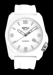 Arctos GPW Pearl White Ceramic High-tech ceramic watch with unusual overall white design, featuring a luminous dial, hands and index markers, CAD$2,111.00 © Rufus Lin Designs