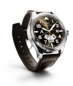 IWC Pilot's Watch UTC Edition Antoine de Saint Exupéry in platinum. © IWC