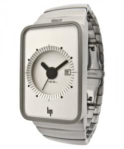 LIP Fridge Stainless steel case 28x40 mm. Silver brush metal band. Ronda movement 775. Water-resistant to 5 ATM.
