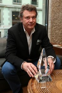 François-Paul Journe with the Timezone.com trophy