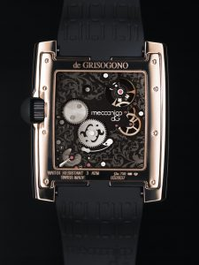 de Grisogono Meccanico dG - Pink gold and rubber