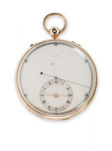 <b>Breguet No. 4009</b> Observation chronometer Forerunner of the modern chronograph. Sold in 1825 to Mr Whaley Collection Montres Breguet S.A. © Montres Breguet S.A.