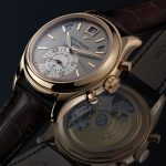 The Patek Philippe Annual Calendar Chronograph Ref. 5960R shows true color in rose gold