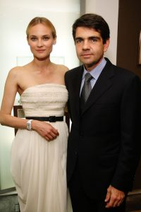 Actress Diane Kruger and Jerome Lambert, Chief Executive Officer of Jaeger-LeCoultre, attend the Jaeger Le-Coultre Boutique Opening during the 62nd International Cannes Film Festival on May 19, 2009 in Cannes, France. (Photo by Kristian Dowling/Getty Images)