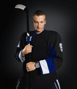 Steven Stamkos wearing the Tissot T-Tracs Limited Edition