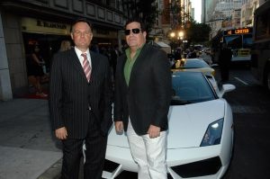 Marc Junod (Blancpain USA Brand President) and John Kaufman (General Manager of Manhattan Motorcars)