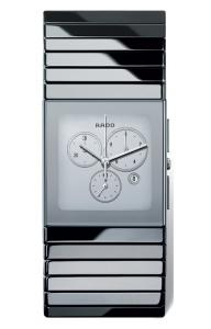 RADO 09- Ceramica Platinum Chrono with Mirror Dial  (XL) R21 911 102