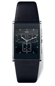 RADO 09- Integral Black Leather Strap Chrono (XL) R20 849 15 5