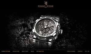 The redesigned Romain Jerome website