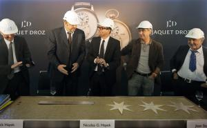 Laying of the foundation stone of the new manufacture Montres Jaquet Droz SA