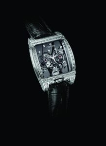 CORUM Golden Tourbillon Panoramique Grey Sapphire