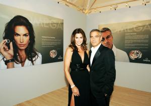 Cindy Crawford and George Clooney