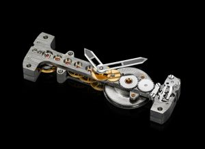 CORUM Ti-Bridge Movement Frontview