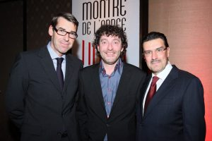 l-r: C. Selmoni (Head of Product Development), D. Pradervand (Master of ceremony and Editor in Chief of Montres Passion) and Vacheron Constantin CEO Juan-Carlos Torres