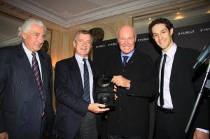 Hugues du Rouret of ACF, Pr Yves Agid of ICM, Jean-Claude Biver and Bruno Senna