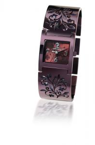 PIERRE LANNIER - PL 9 - Elegant ladies timepiece with sparkling stones decorated case. All stainless steel. Water-resistant 3ATM.