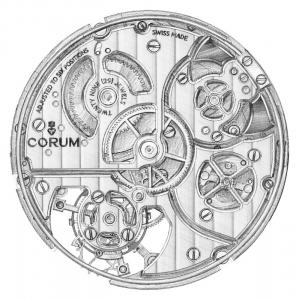 CORUM Admiral's Cup Minute Repeater Tourbillon 45 movement Drawing by Atelier XJC