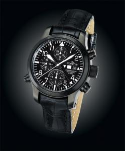 Limited Edition C.O.S.C. 500 FORTIS B-42 FLIEGER BLACK CHRONOGRAPH ALARM