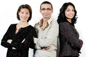 The 3 Associate-Founders of Time Exhibitions Sàrl and Geneva Time Exhibition (From l. to r.: Florence Noël, Dominique Franchino, Paola Orlando)