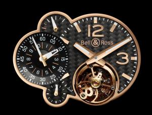 BR Minuteur TOUrBILLON pink Gold: the dial and its 4 complications