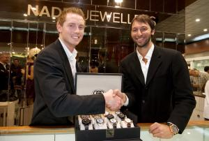 TW Steel CEO Jordy Cobelens with  Ian Thorpe