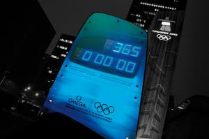 The OMEGA Olympic Countdown Clock in Vancouver