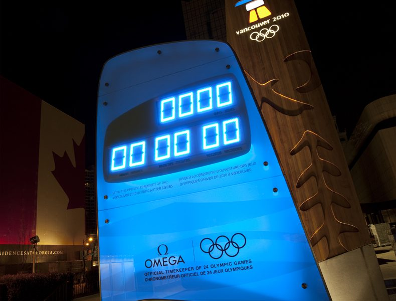 Omega Countdown clock - Vancouver