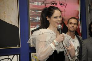 Host supermodel Coco Rocha welcomes guests with her new Glam Rock timepiece.