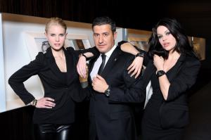 Antonio Calce with Daniela and Angela wearing Corum novelties Photo: Gregory Maillot