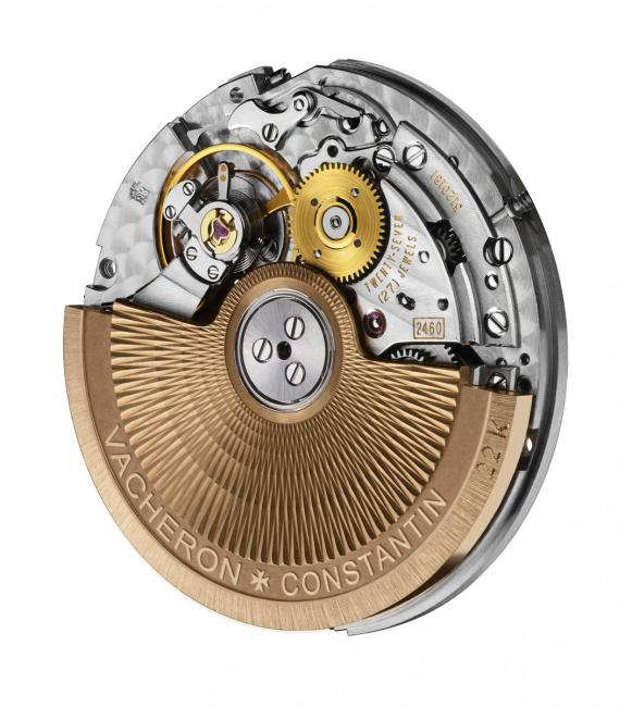 The mechanical self-winding Calibre 2460 SC, developed and manufactured by Vacheron Constantin