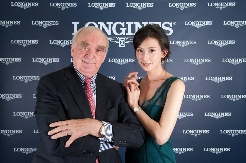 Walter von Känel, President of Longines and Chi-Ling Lin