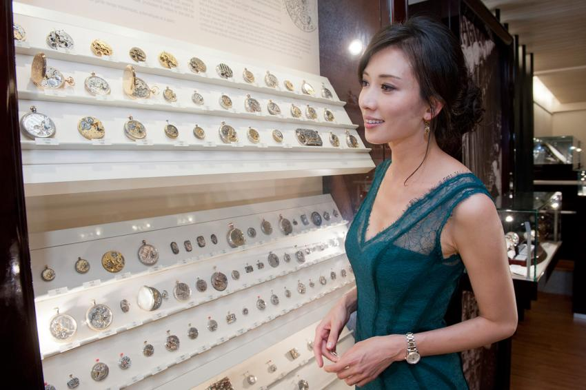Chi-Ling Lin visiting the Longines Museum in Saint-Imier
