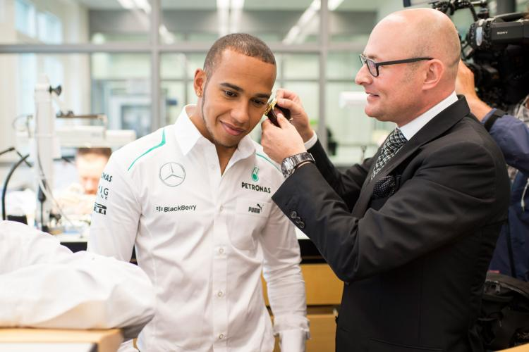 Hamilton with IWC CEO George Kern