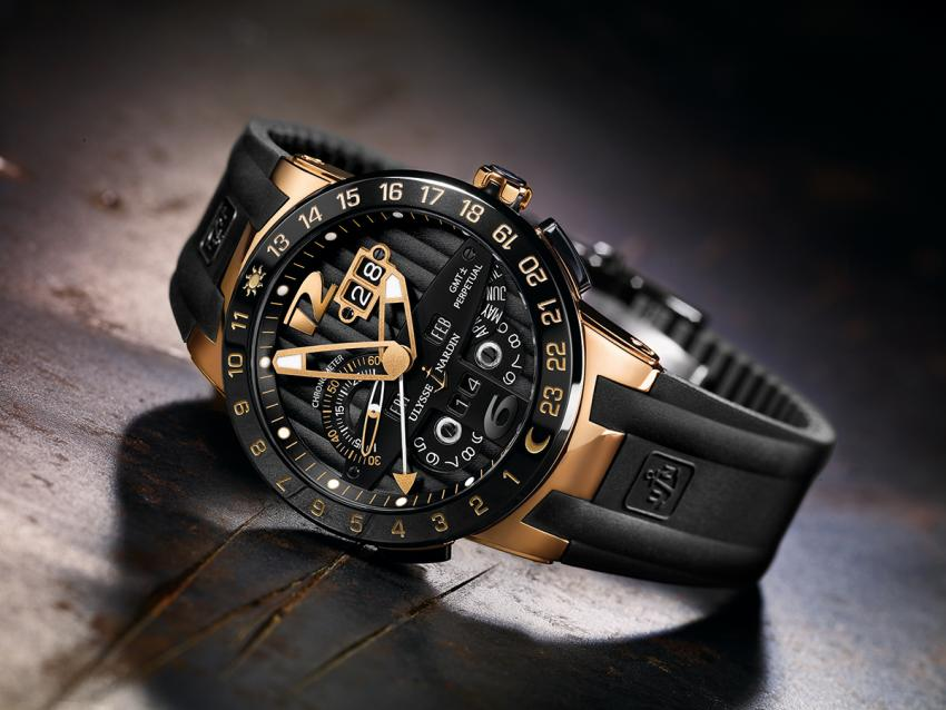 With its black dial and a 43mm rose gold case, the Ulysse Nardin Black Torro is charged with virility!