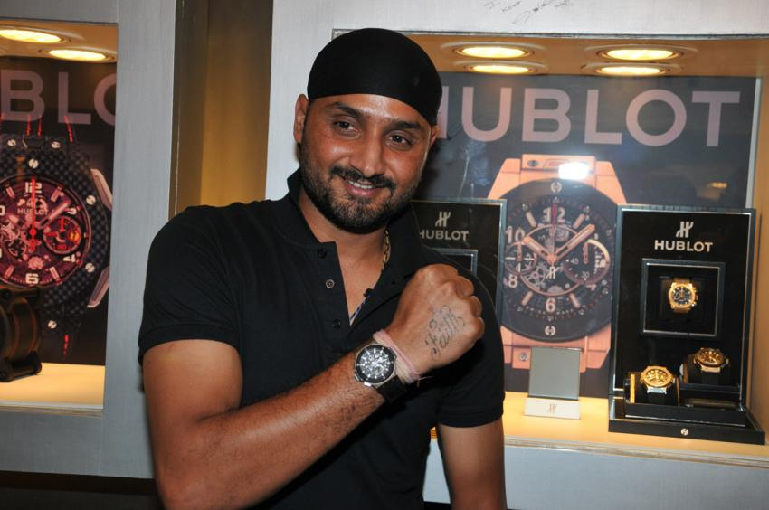 Ace Cricket spinner National Star and HUBLOT ambassador Harbhajan Singh