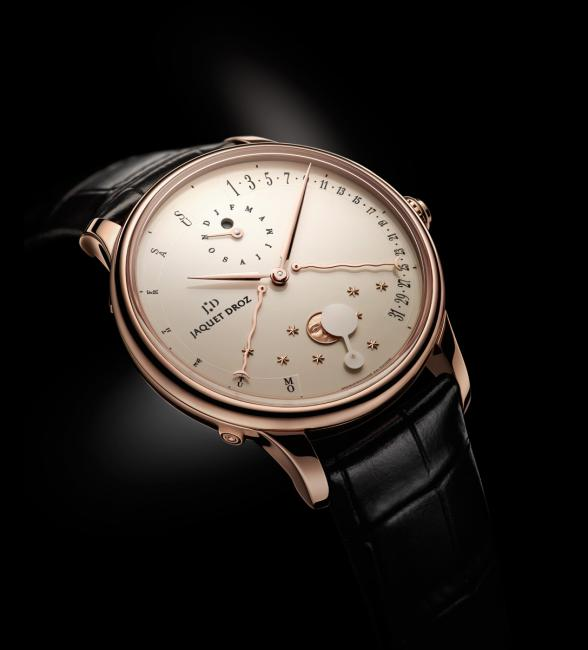 The Perpetual Calendar Éclipse by Jaquet Droz with ivory Grand Feu enamelled dial