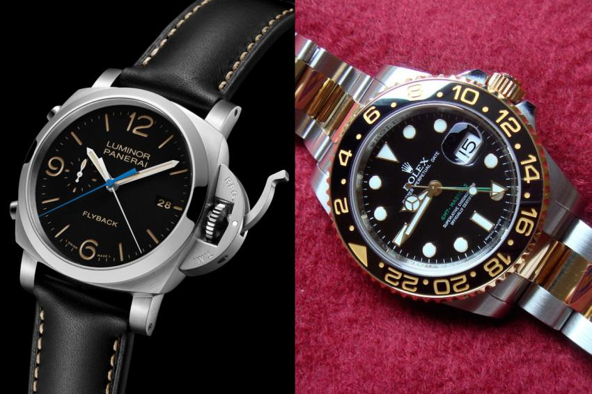 Rolex Oyster Perpetual GMT-Master II and Panerai Luminor 1950 3 Days Chrono Flyback