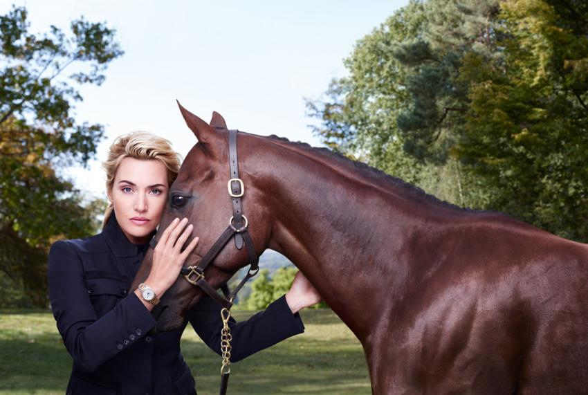 Kate Winslet with a Longines Conquest Classic on her wrist