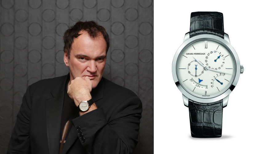Quentin Tarantino and Girard-Perregaux 1966 Annual Calendar and Equation of Time.