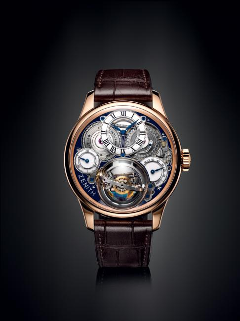 The dial side of the ZENITH Academy Christophe Colomb Hurricane Grand Voyage