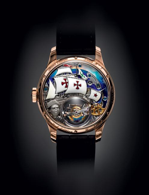 The back of the Zenith Academy Christophe Colomb Hurricane Grand Voyage