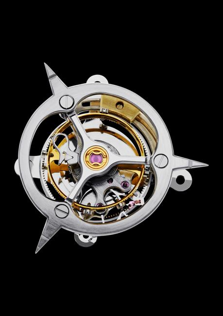 Inversion Principle by Fonderie 47: central 3-minute flying tourbillon