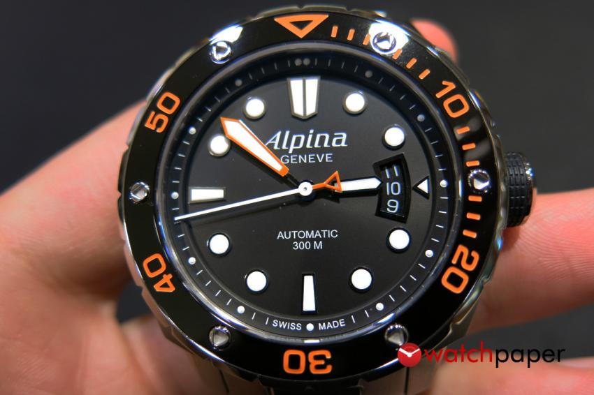 Alpina Extreme Diver Orange dial and  bezel.
