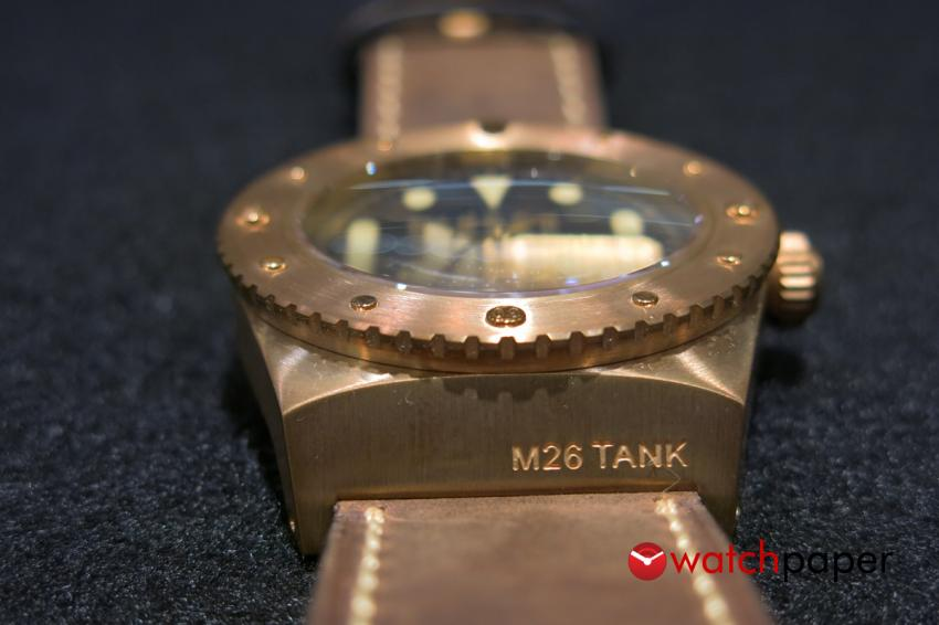 Bronze watch Ancon M26 Tank