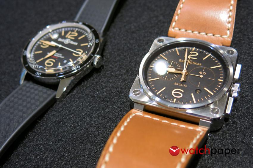 Bell & Ross Vintage 123 Sport Heritage and BR03 94 Golden Heritage