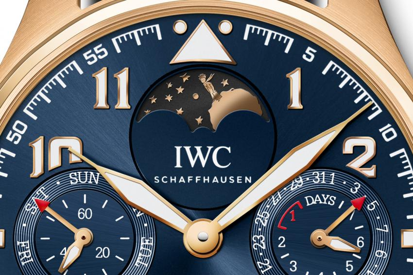 """The moon phase on the IWC Big Pilot's Watch Perpetual Calendar Edition """"Le Petit Prince"""""""