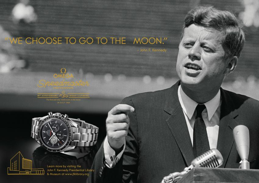 Omega advertising with JFK