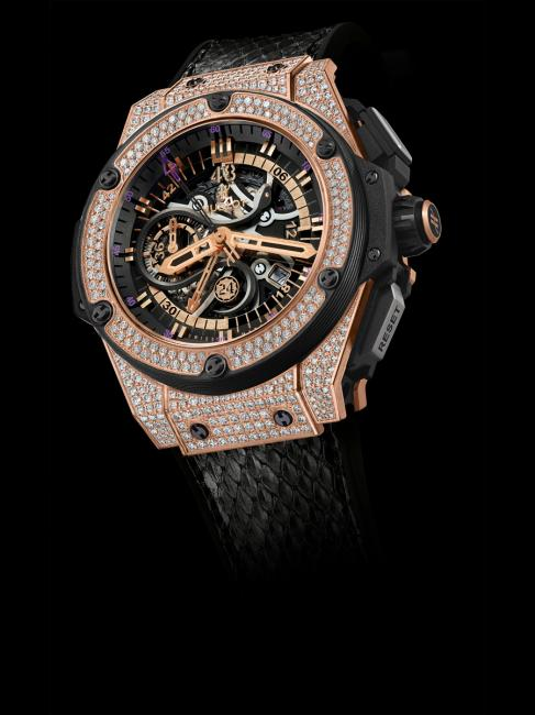 Hublot diamond-set King Power Black Mamba King Gold