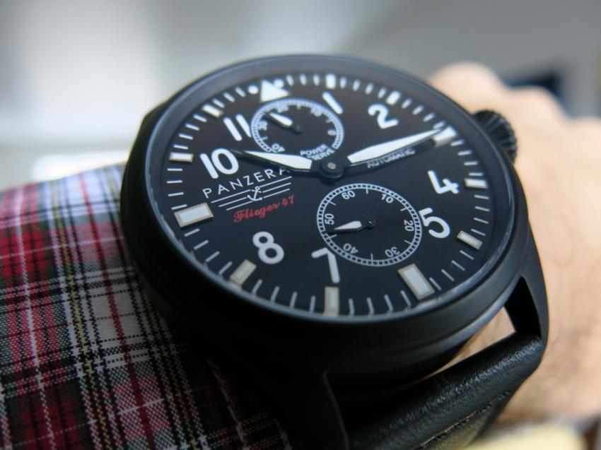 Panzera Flieger 47 on wrist