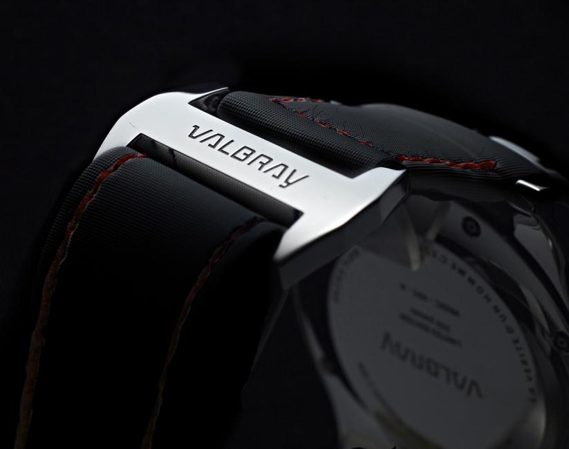 The micro perforated lambskin strap on the Valbray Road 66